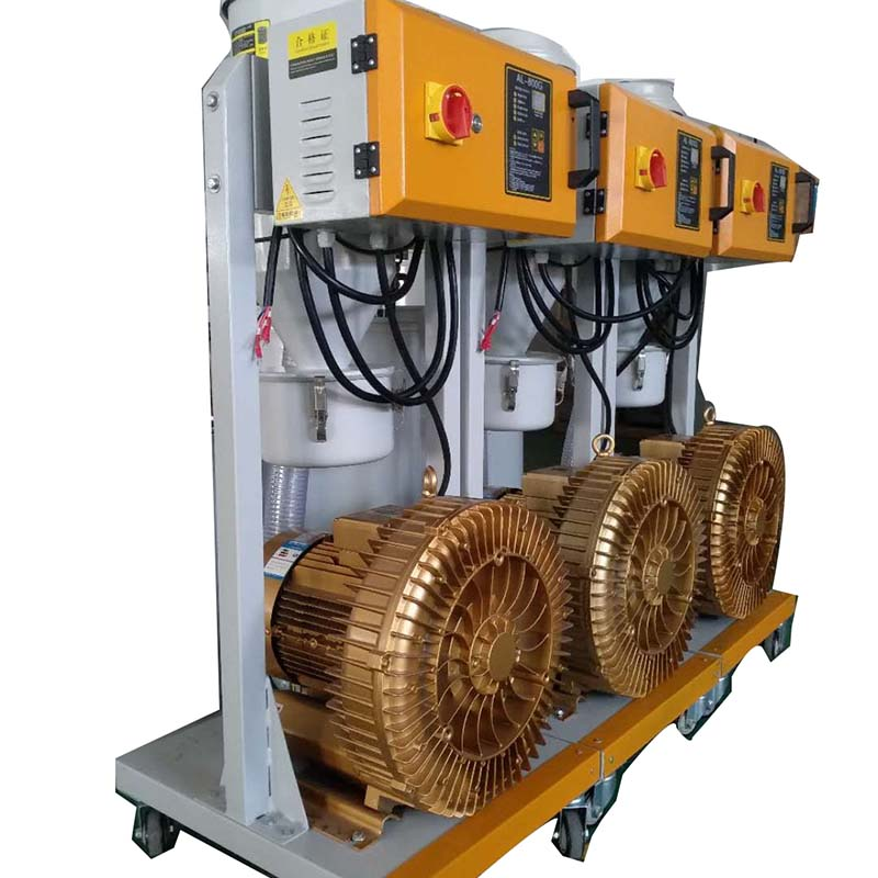 Side view of dust-free suction machine