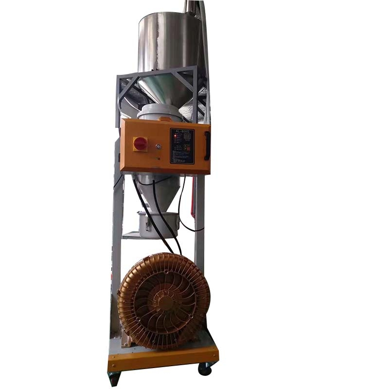 Dust free suction machine with stainless steel storage bucket